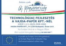 Technológiai fejlesztés a Vajda Papír Kft.-nél
