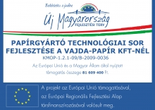 Paper manufacturing technology development at Vajda Papír Kft.